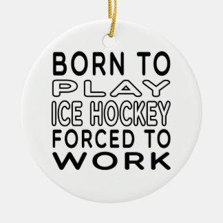 Soutenu au hockey sur glace forcé pour travailler ornement rond en céramique