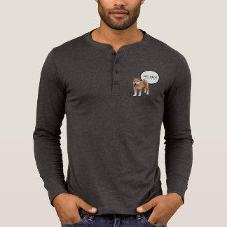 Soutenu dans la chemise d'hommes de Shiba Inu T-shirt