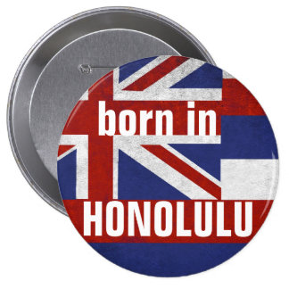 Soutenu dans le bouton de Honolulu Pin's
