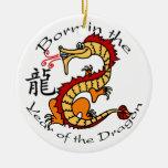 Soutenu par année de l'ornement de dragon