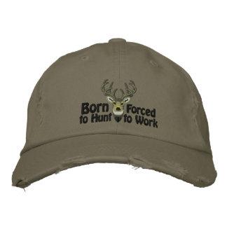 Soutenu pour chasser la broderie de queue blanche casquette brodée