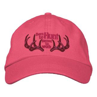 Soutenu pour chasser obligatoire pour travailler casquette brodée