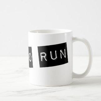 Soutenu pour courir mug
