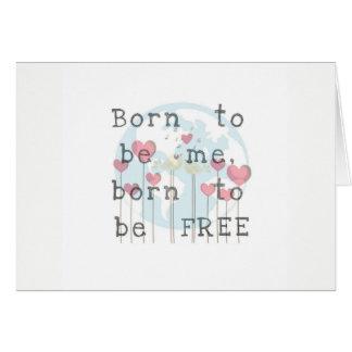 Soutenu pour être carte de voeux de Me/Free
