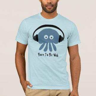 Soutenu pour être T-shirt bleu sauvage de méduses