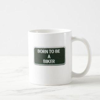 soutenu pour être un cycliste mug blanc