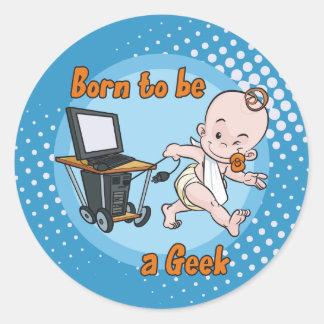 Soutenu pour être un geek sticker rond