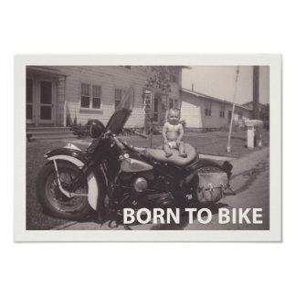 soutenu pour faire du vélo carton d'invitation 8,89 cm x 12,70 cm