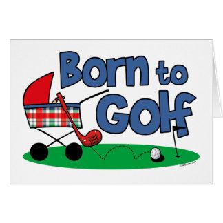 Soutenu pour jouer au golf cartes de vœux