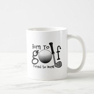 Soutenu pour jouer au golf, obligatoire pour mug