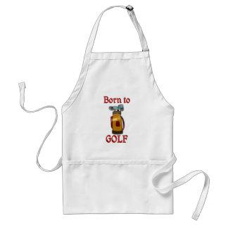 Soutenu pour jouer au golf tablier