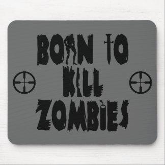 Soutenu pour tuer des zombis tapis de souris