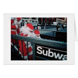 Souterrain Père Noël Carte De Vœux