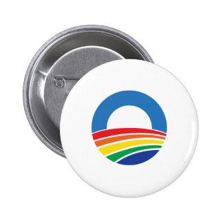 Soutien d'Obama 2012 de mariage homosexuel Badge Rond 5 Cm