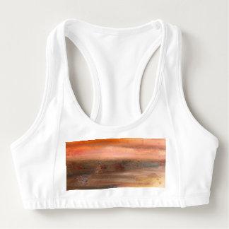 Soutien-gorge abstrait orange de sports de Brown