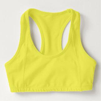 Soutien-gorge des sports des femmes, jaune de néon brassière