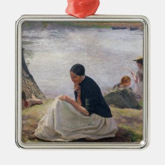 Souvenir, 1891 ornement carré argenté