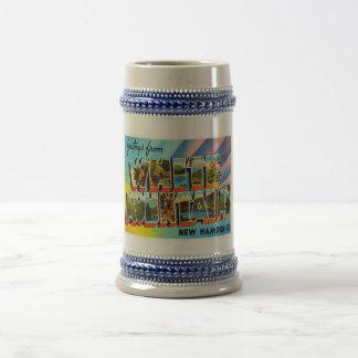 Souvenir blanc de voyage du New Hampshire NH de Chope À Bière