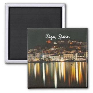 Souvenir d'aimant de réfrigérateur de nuit d'Ibiza Magnet Carré
