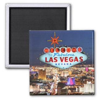 Souvenir de Las Vegas Magnet Carré
