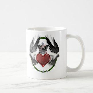 souvenir de mariage de coeur de claddagh tasses à café
