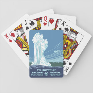 Souvenir de parc national de Yellowstone - WPA Jeu De Cartes