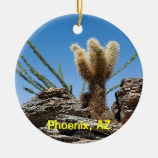 Souvenir de Phoenix Arizona Ornement Rond En Céramique