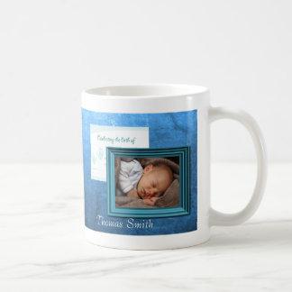 Souvenir de photo de naissance de bébé tasse à café
