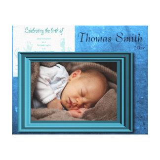 Souvenir de photo de naissance de bébé toile tendue sur châssis