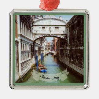 Souvenir de Sospiri Venezia Italie de dei de Ponte Ornement Carré Argenté