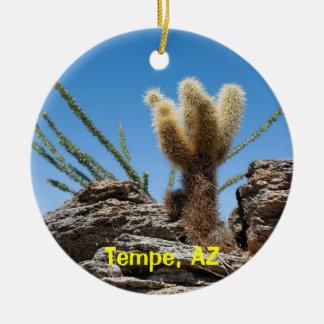 Souvenir de Tempe Arizona Ornement Rond En Céramique