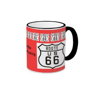 Souvenir de voyage par la route de l'itinéraire 66 mug ringer