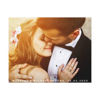 Souvenir élégant de photo de couples de mariage toiles