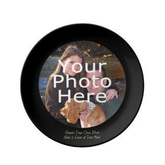 Souvenir fait sur commande personnalisé d'image de assiettes en porcelaine