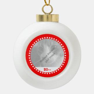 Souvenir mignon de Noël pour des animaux familiers Boule En Céramique