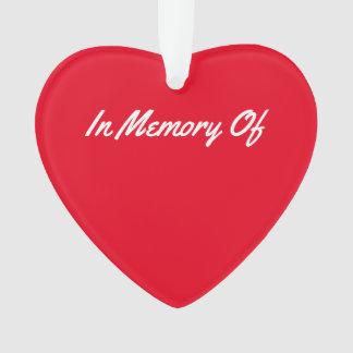 Souvenir rouge de coeur de mémoire