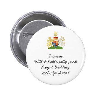 Souvenir royal de mariage d'amusement - prince Wil Pin's Avec Agrafe