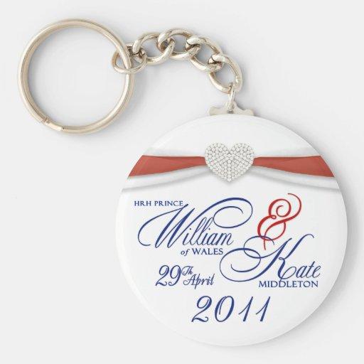 Souvenir royal de mariage - porte-clés de William