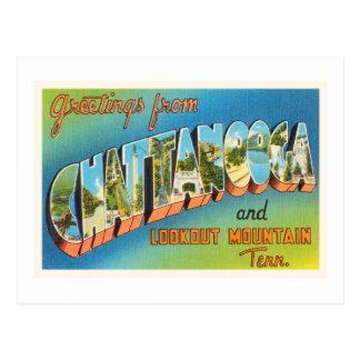 Souvenir vintage de voyage de Chattanooga Carte Postale