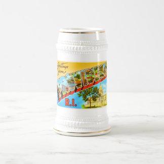 Souvenir vintage de voyage de Providence Île de Chope À Bière