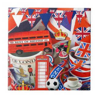 Souvenirs britanniques petit carreau carré