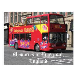 Souvenirs carte postale de Liverpool, Angleterre