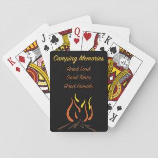Souvenirs de camping cartes à jouer