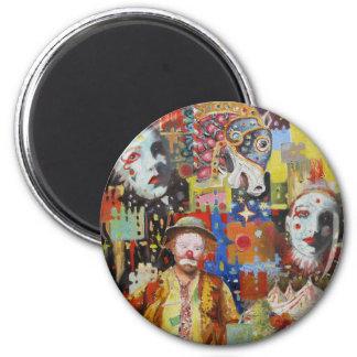 """""""Souvenirs de cirque """" Magnet Rond 8 Cm"""