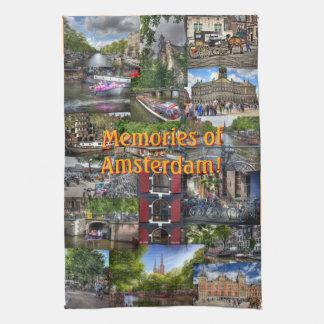 Souvenirs de collage de photo d'Amsterdam Linges De Cuisine