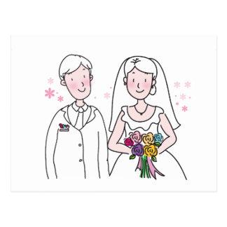 Souvenirs de mariage, cadeaux, dons pour des carte postale