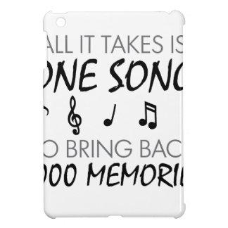 Souvenirs de musique étuis iPad mini