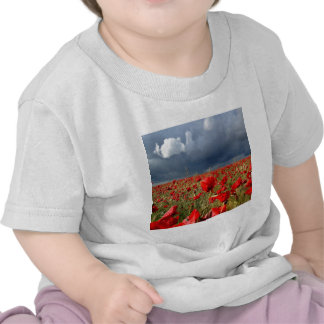 Souvenirs de pavot de gisement de nature t-shirts