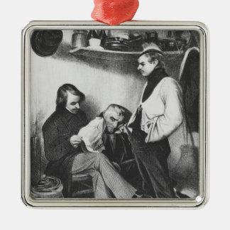 Souvenirs de Sainte-Pelagieillustration Ornement Carré Argenté