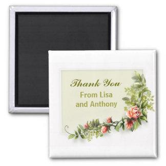 souvenirs et cadeaux d'accessoires de mariage magnet carré